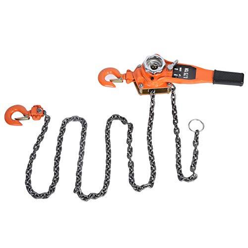 Polipasto de cadena de 0,75 t, polipasto de trinquete, polea de palanca, elevación manual...