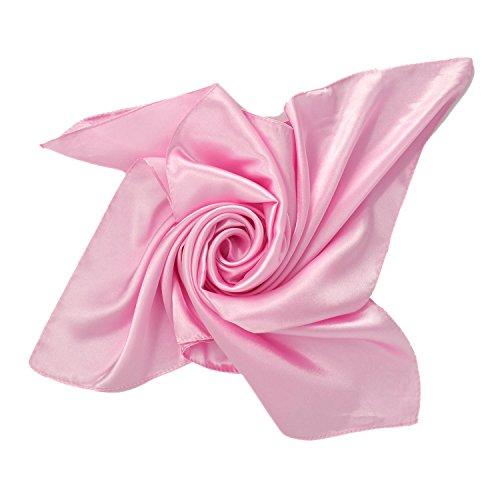 PB-SOAR Einfarbiger Schal Bandana Halstuch Kopftuch Nickituch, 13 Farben auswählbar (Rosa)
