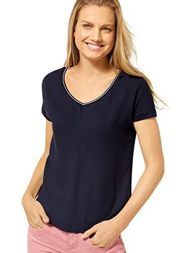STREET ONE Damen 314631 Ianda T-Shirt, deep blue, 38