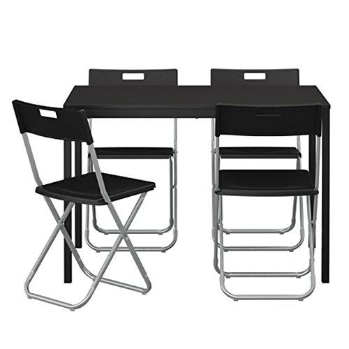 TÄRENDÖ IKEA Tisch und 4 GUNDE Stühle in schwarz