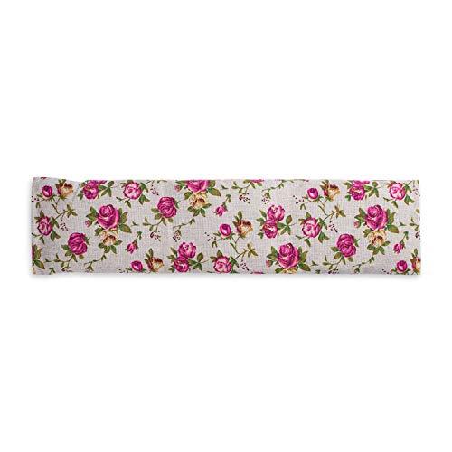 Cuscino ecologico con noccioli di ciliegio extra lungo, contiene 350 grammi, per il relax e benessere. Da riscaldare in forno o in microonde. Dimensioni 42x12cm (Retro)