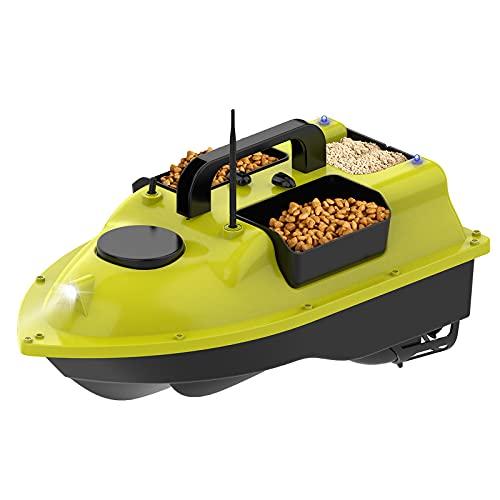 Barco Cebo, Buscador Peces GPS, Carga 2 Kg 500 M Control Remoto Barco Cebo Pesca Función Retorno Automático 3 Contenedores Cebo