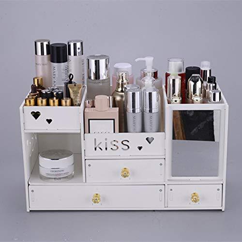 Kosmetik Aufbewahrungsbox Finishing Box Haushalt einfache Schublade Kommode Eitelkeit Fall Hautpflegeprodukt Rack-King Color C DREI Draws