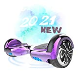 SOUTHERN-WOLF Hoverboard Self-Balancing Scooter, 6,5zoll Hover Scooter Board Bluetooth Scooter mit bunten Lichter Bluetooth eingebaute Geschenk für z29 (Purple)