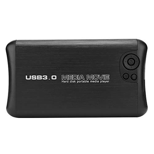 Reproductor Multimedia HD De 2,5 Pulgadas Función USB HOST Tarjeta De Memoria Digital Segura/Lector De Tarjetas SDHC Soporte Para Salida AV(Normativa europea)
