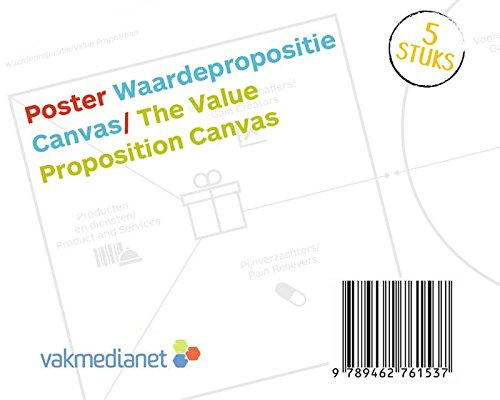 Poster Waardepropositie Canvas/Poster The Value Proposition Canvas: Koker met 5 posters op A0-formaat/Carton roll with 5 A0 posters