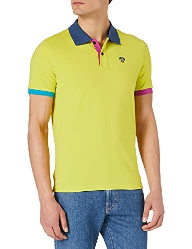 NORTH SAILS Cotton Piqué Polo Shirt Camisa, Sulphur Spring, M para Hombre