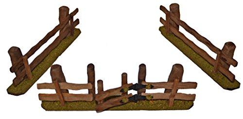 Holz-Zaun Zaun 3er Set für Weihnachtskrippe Krippenstall Krippenzubehör