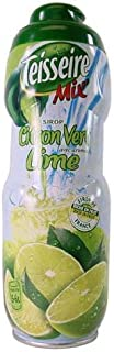 Lime (Citron Vert) Teisseire all natural Lime (Citron Vert) Syrup 600 ml 20.3oz (2 PACK)