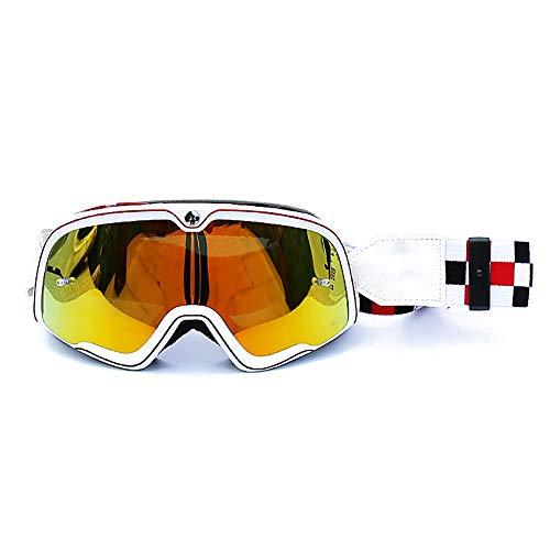 Gafas de protección para casco de motocicleta, resistente al viento, protección UV, a prueba de polvo, para ciclismo, esquí, gafas de sol para hombre y mujer