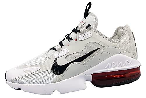 Nike Air MAX Infinity 2, Zapatillas Hombre, White Black University Red Pho, 40.5 EU