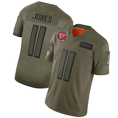 NCNC #11#18 Atlanta Falcons Jones Rugby Trikots für Herren und Damen, Fan Edition Stickerei American Football T-Shirt Football Sportswear (S-XXXL) Gr. XXL, #11