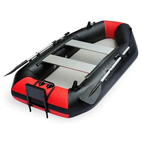 Qinmo Kayak Inflable, Engrosamiento Barco de Pesca for el Motor de Remo con bisagras Espejo de popa de Listones de Pesca de Paleta de Goma de Alta Resistencia del Bote (Size : 260 * 120cm)
