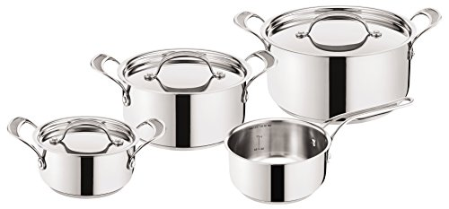 Tefal Jamie Oliver H80302Premium Stainless Steel Inox Induction Pan, Stainless Steel, edelstahl, 52.6 x 35.1 x 21.9 cm
