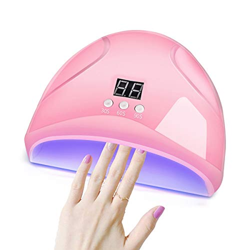 36W LED UV Gel Nail Lamp, Nail Dryer Curing Lamp Powered by USB with 3 Timer Auto Sensor LCD Display...