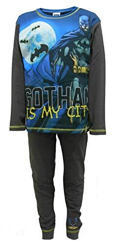 Batman Gotham is My City Schlafanzug, offizielles Lizenzprodukt, für Kinder Gr. 9-10 Jahre, blau