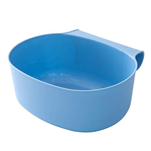 OUNONA Auffangschale f¨¹r K¨¹chenabf?lle,21 x 17.8 x 9 cm,(blau)