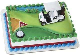 CakeDrake GOLF Cart Golfer Golfing Cake Decoration Cake Party Topper Hole in One PGA Kit W