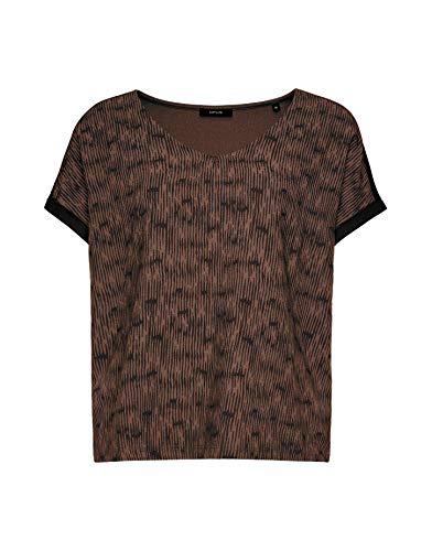 OPUS Damen Suminchen Ethno T-Shirt, Black, 44
