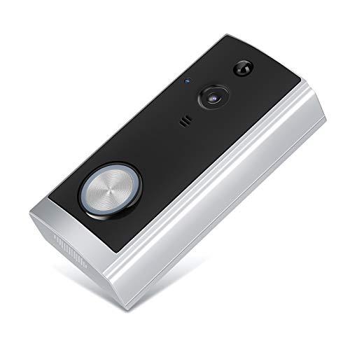 FASJ Videocamera, con Campanello Wi-Fi vocale bidirezionale con Ampio Angolo di Visione di 166 Gradi, Ricezione Wi-Fi a Basso consumo HD720P per Porte in Ferro Porte in Legno