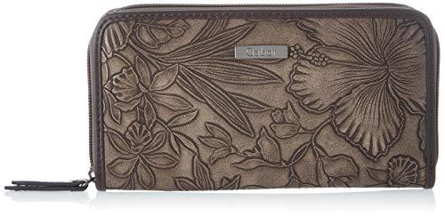 Gabor Portemonnaie Damen Granada Fiore, Braun (Mokka), 20x10.5x2.5 cm, Gabor Geldbeutel Damen