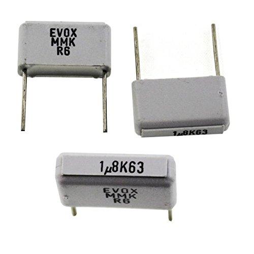 10x MKT-Condensateur rad. 1,8µF 63V DC ; 15mm ; MMK15185K63B04L12 ; 1,8uF