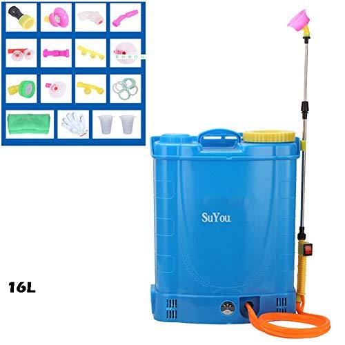 JTYDFG Mochila pulverizadora a presión eléctrica a batería 16L / 18L / 20L litros Mochila Mochila pulverizadora a presión Cultivo Jardín Weed Killer Chemicals (Azul)