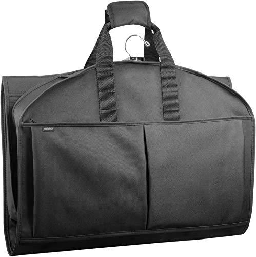 WallyBags 48インチ キャリーオン 旅行用衣類バッグ 三つ折り スーツやドレスに ブラック