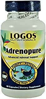 Logos Nutritionals - AdrenoPure - Advanced Adrenal Support Herbs, Nutrients and 200mg Glandular Extract