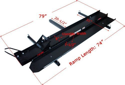 ALEKO MC600 600 Pound Capacity Motorcycle and Sport Bike Cargo Carrier Rack with Foldable Ramp