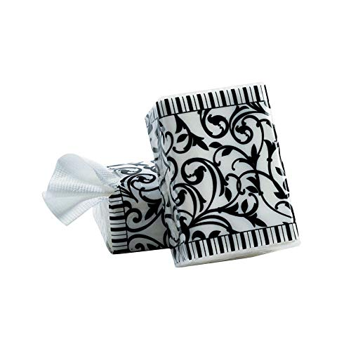 Black & White Wedding Facial Tissue Packs - Party Themes & Events & Party Favors (Pack of 10)