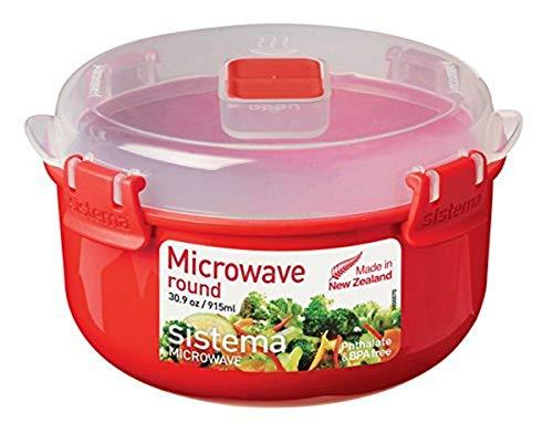 Sistema 1113 Boîtes Alimentaires isothermes, Plastique, Rouge/Transparent, 915ml