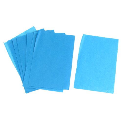 Lady Cosmetic Facial Oil Blotting Paper Sheets 100 Pcs Blue Green