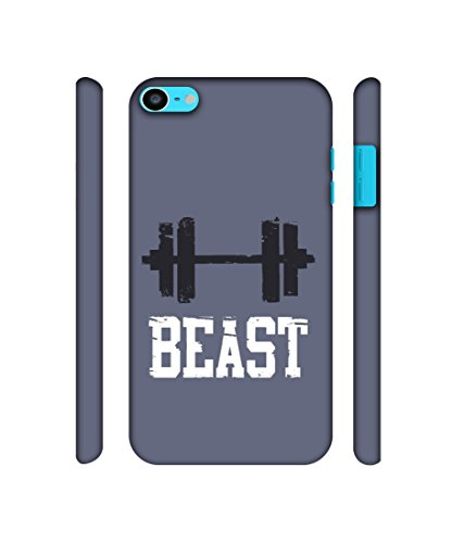 NattyCase Beast Gym Design 3D Printed Hard Back Case Cover for Apple iPod Touch 6th Generation