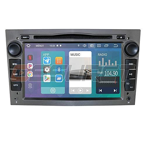 Android 10 Sistema multimediale per auto WiFi Audio per veicoli Bluetooth Autoradio con collegamento a specchio touch screen da 7 pollici USB DVR OBD2 Adatto per Opel Antara Combo Meriva (grigio)