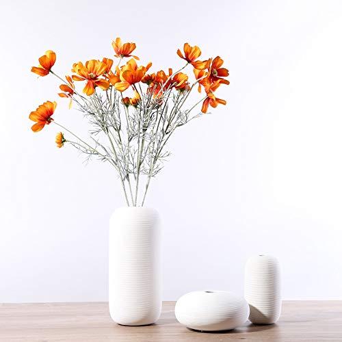 Decorative White home decoration vase modern minimalist living room soft decoration size flower arrangement