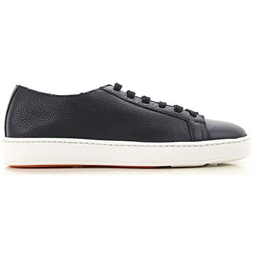 Santoni Luxury Fashion Mens Sneakers Winter Blue