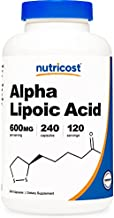 Nutricost Alpha Lipoic Acid 600mg Per Serving, 240 Capsules - Gluten Free, Vegetarian Capsules, Soy Free & Non-GMO