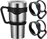 2 Pack Cup Handle for 30oz YETI Rambler & Ozark Trail Tumblers, Yeti Rambler Handle BPA Free Cup Holder for Stainless Steel Tumblers, RTIC (OLD VERSION), SIC, Travel Water Coffee Tumbler Mugs, Black