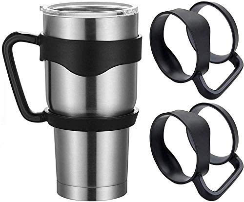 2 packs of tumbler cup handle 30 ounces 30 ounces snowman tumbler carrier holder stainless steel tumbler RTIC cooler Sic Rambler travel cup holder coffee cup flask tumbler cup handle-black
