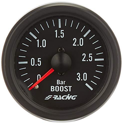 Simoni Racing BV/B2 Indicador Mecánico de Presión Turbo+VAC específico para motores Turbo Diesel, Negro