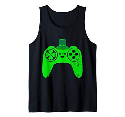 St Patricks Gamer Irish Game Controller Video Games Gaming Tank Top