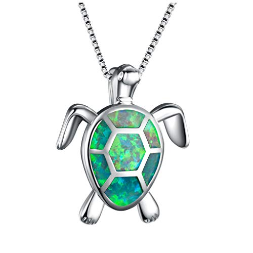 Women Clavicle Necklace Women Charm Cute Necklace Opal Turtle Pendant Jewelry Ornament Lady Girls Wedding Jewelry