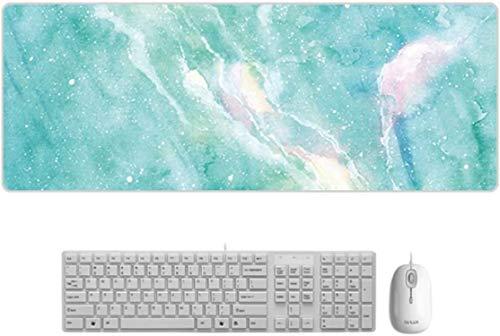 Große Marmor Mauspad Büro Computer Tastatur Erweiterte Gaming Mausmatte Grün 800x300x3mm
