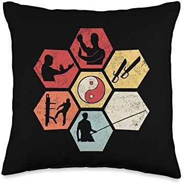 Wing Chun Kung Fu Martial Arts Wing Chun I Yin Yang Wooden Dummy Butterfly Swords Kung Fu Throw product image