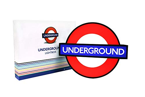 TfL London Underground Lightbox Sign with 10 Interchangeable Tube Stations