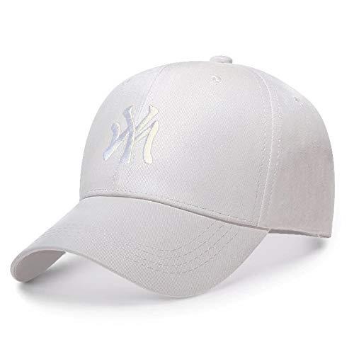 WAZHX Nuevo Sombrero De Papá Bordado My Gorra De Béisbol De Moda De Verano para Hombre, Gorras De Visera De Primavera Salvaje Y Otoño, Gorras Ajustables, Blanco Blanco Ajustable