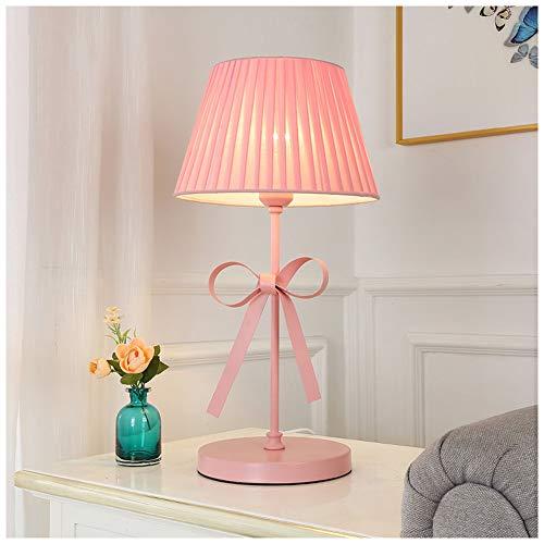 ATRNA staande lamp, exquise metaal met stoffen lampenkap tafellampen woonkamer slaapkamer nachtkastje bar kantoor decoratie licht bureau roze