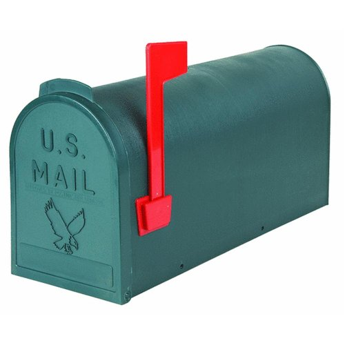Flambeau T-R4505GR Standard Classic Mailbox, Rural Style, #1, Green