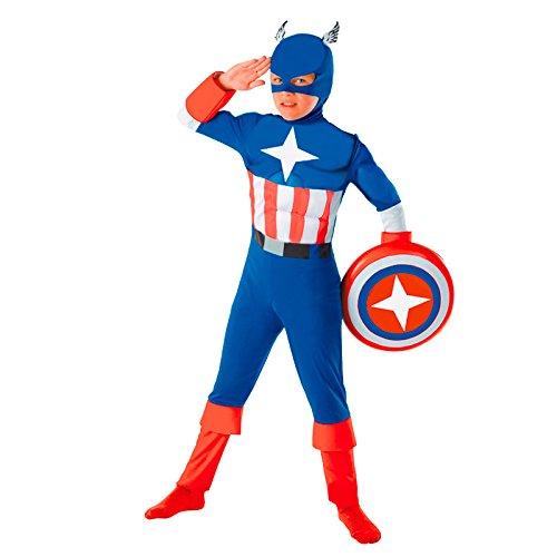 Disfraz Super Héroe América niño infantil (10-12 años): Amazon.es ...